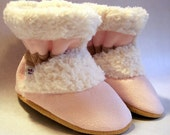 Cotton Candy - Sherpa Suede Boots - 4 Sizes - Infant to Toddler - Toe-Sters