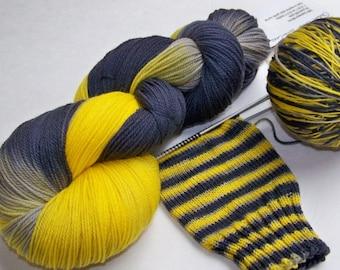 Handpainted Ultra Merino Superwash Sock/Fingering -- CAUTION: Knitter -- Do Not Cross