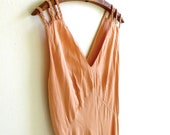 Barbizon Leslie Peach Silk Satin Dasche Nightgown Size 36