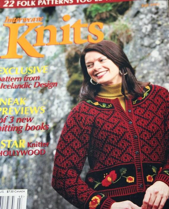 Interweave Knits Magazine Knitting Patterns Fall 1999 Sweater Cardigan Shawl Socks Vest Aran Men Women Children Paper Original NOT a PDF
