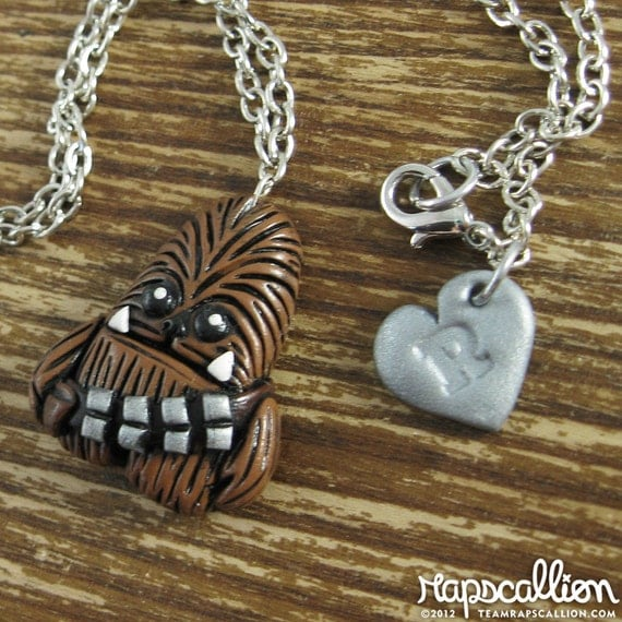 Chewbacca Inspired Polymer Clay Necklace