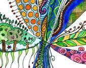 Original watercolour painting, Tree of Life 14, by melanie j cook