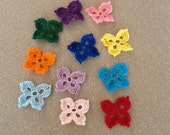 11 butterfly appliques - choose your colors