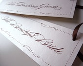Crystal Swirls Bride and Groom Matching Chair Signs