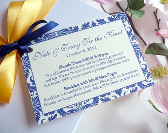 Damask Border Welcome Gift Tags