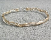 Unique Bracelet Thin Grapevine Design in Silver and Gold Wire