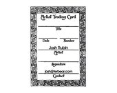 ATC ACEO Celtic Artist Trading Card Back custom rubber Stamp