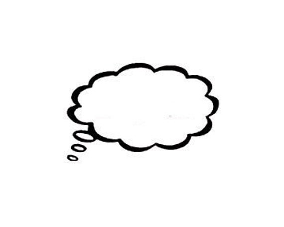 CLEARANCE Blank Thought Bubble Rubber Stamp You fill in talk bubble speach bubble