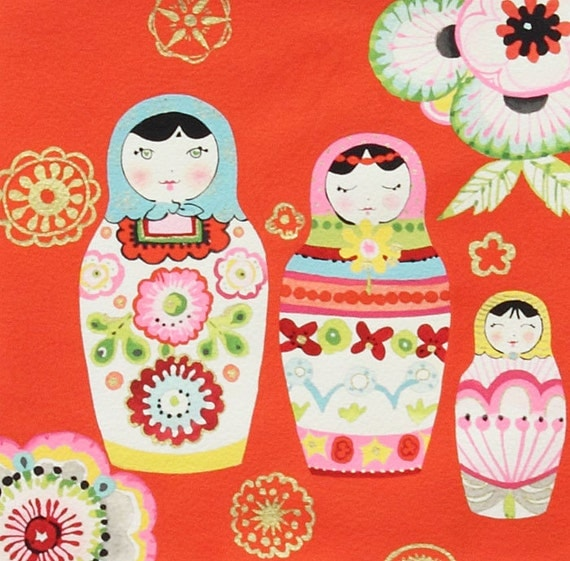 NEW Alexander Henry, Nadya Red Fabric - By the Yard