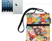 iPad Mini Bag / iPad Mini Case / iPad Mini Cover / iPad Mini Sleeve / TRAVEL BAG  - - Fast Shipping -Book of Color Fabric