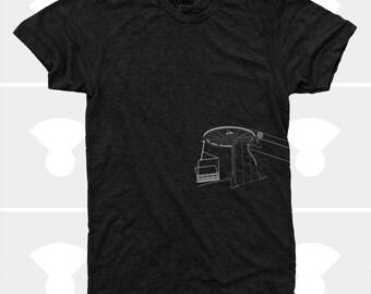 Skiing Snowboarding Shirt, Ski Gift, Men's Chairlift TShirt, Gift for Men, Black, Men's Clothes, Colorado, Utah, Alaska, Gift for Boyfriend