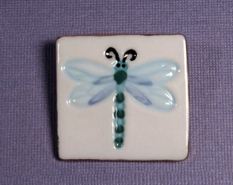 Dragonfly Brooch Handmade Porcelain Ceramic Jewelry