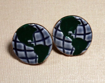World Porcelain Earrings