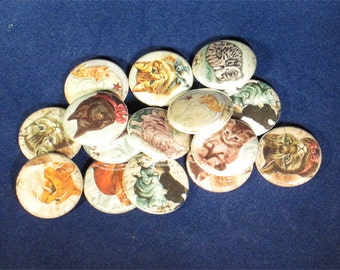 15 Cats Buttons