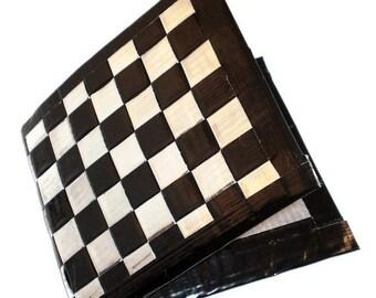 Duct Tape Wallet - Chrome & Black