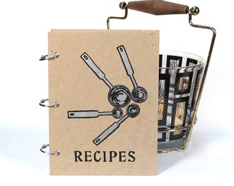 Blank Recipe Book - Measuring Spoons (5 in. x 7 in.) - Size No.2 - Silver ink