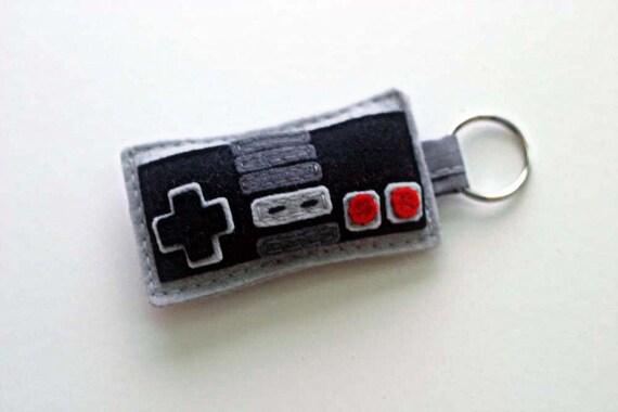 Nintendo Controller Keyring  - Retro 80s Nes Keychain