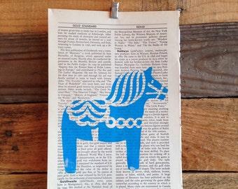 Dala Horse Book Page Print