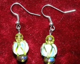 Handmade Glassblown Lampworked Glass Earrings