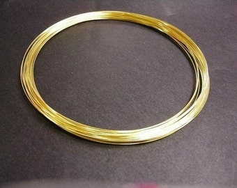 11.5cm gold finish memory wire 25 loops for necklace-5091