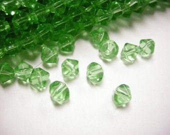 50pc 8mm bicone glass beads-3247