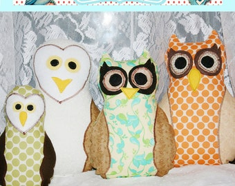 Instant Download Treasury Item Little Bird Lane Sewing Pattern PDF Tutorial ebook Fat Quarter Owl 2 Easy and Cute