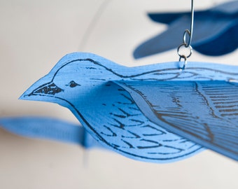 You and Me:  2-bird Mobile MJ Paperflight