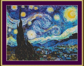 Starry Night - Counted Cross Stitch Pattern