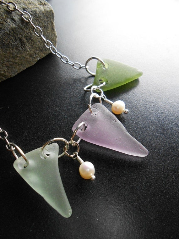 Sea Glass Jewelry - Seaglass Necklace - A BANNER YEAR