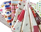 10pcs - Pretty scrap fabric - No.81