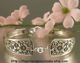 Silver Spoon Bracelet SILVER BELLE Jewelry Vintage, Silverware, Gift, Anniversary, Wedding, Birthday