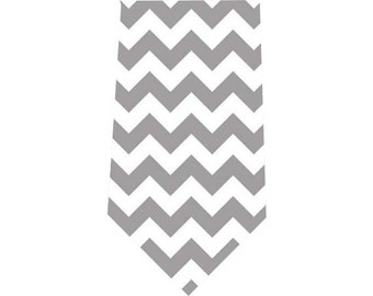 Boy's Tie Gray Chevron Child's Necktie