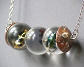 Insect Trio Necklace Made With Real Insects In Resin Orbs