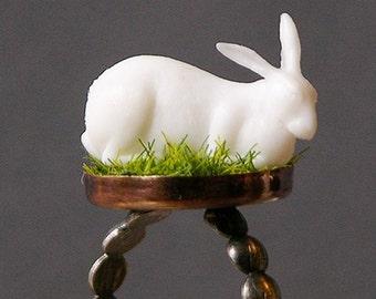 Albino Rabbit Ring