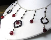 Regal in Red Necklace - Swarovski Crystal and Sterling Silver