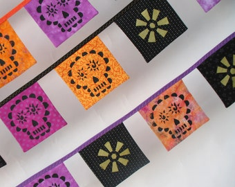 Mini Day of the Dead Altar Bunting -- Short