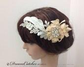 Della crystal head piece, wedding hair accessories, wedding, bridal accessories,bridal hair piece,head fascinator,hair comb