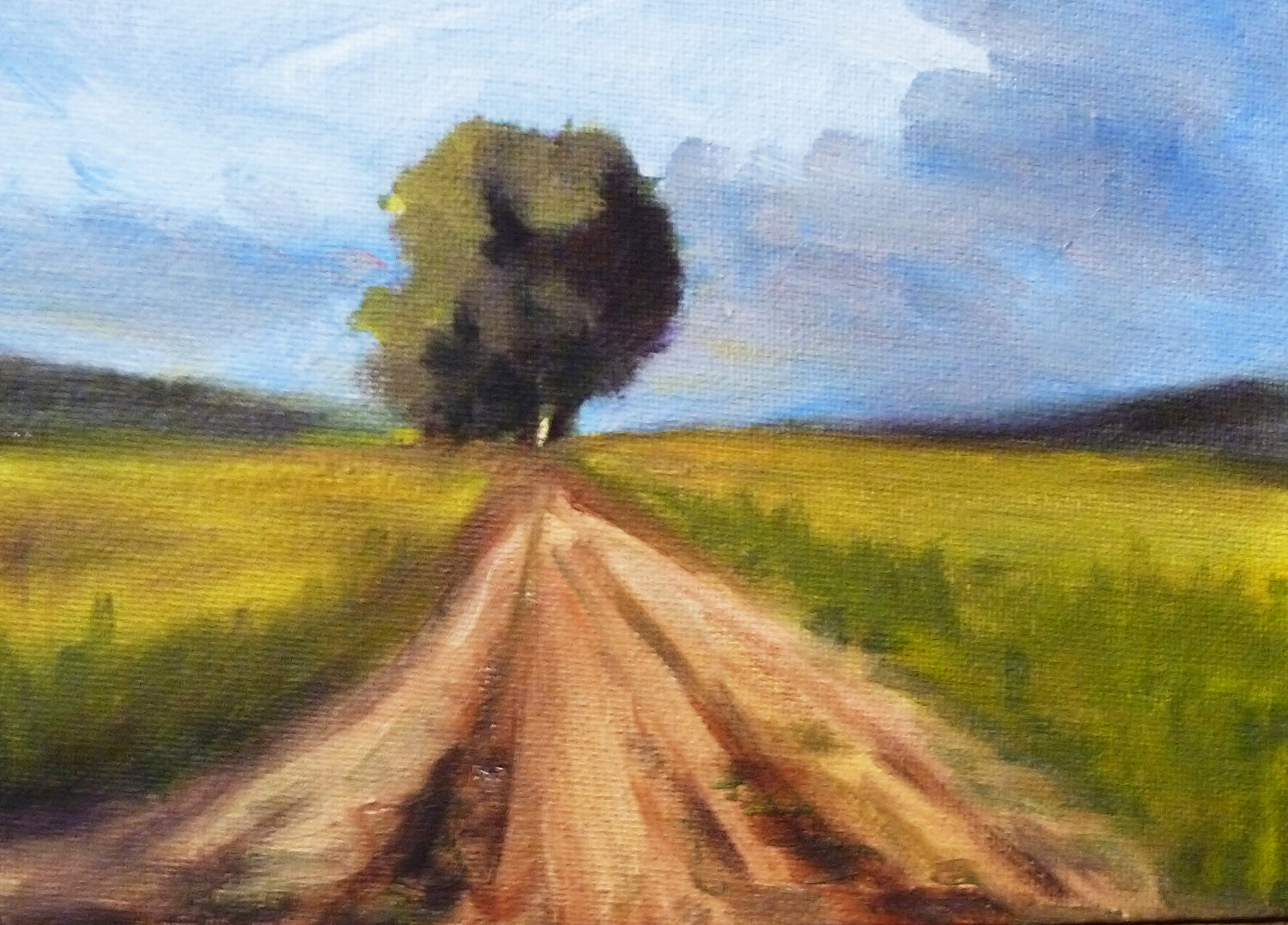 Prairie Landscape Original Oil Painting On Canvas Country
