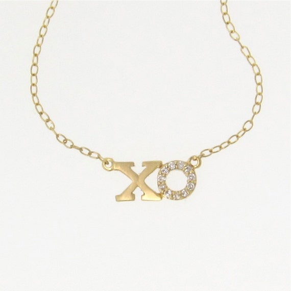xo necklace lea michele 14k gold necklace hugs by