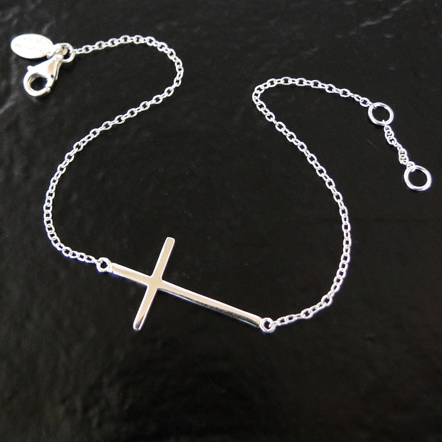 Diamond Sideways Cross Bracelet Sideways Cross Bracelet