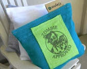 Zombie Natural Sachets for Dryer Clothes Drawers Closets Camping Pillow Sheets Upcycled from tShirt Material SET of THREE