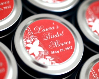Wedding or Bridal Shower Favor Gift Travel Candles