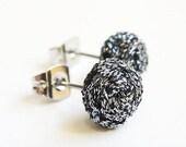 Titanium Braided Stud Earrings