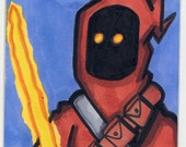 Jedi Jawa ACEO Art Card Star Wars Series 1 by Kevin P. Johnson