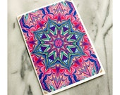 Marbled Paper Kaleidoscope Design Notebook no. 1