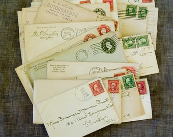 Postal History 20 Personnel and Business Correspondences from the early 1900s