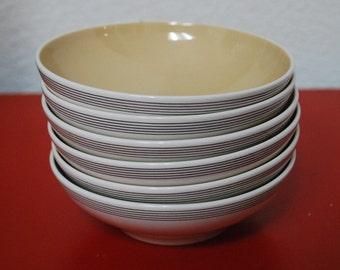 Vintage Franciscan White Stone Ware Fan Tan Small Bowls