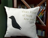 Moonrise Kingdom - What Kind of Bird Are You 12 in x 12 in Movie Quote Pillow