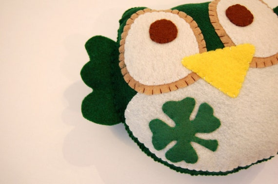 Lucky owl Eco Friendly Plush Toy / Stuffed Animal