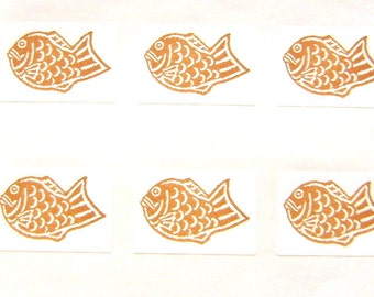 Japanese Stickers Taiyaki  Fish Shaped Sweets Traditional Japanese Food (S19)